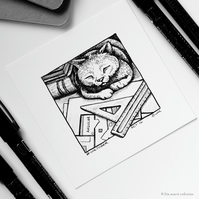 Angular - Day 16 Inktober 2018 - Small Cat Drawing