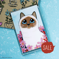 SALE - Seal Point Cat Fridge Magnet - Jumbo