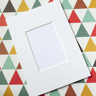 ACEO Mount to fit 7 x 5 inch frame - White Smooth