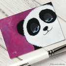 Cute Panda Bear - Original ACEO Painting