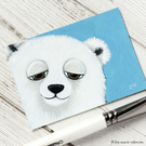 Cute Polar Bear - Original ACEO Painting