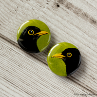 Blackbirds 25mm Button Badges - Pack of 2