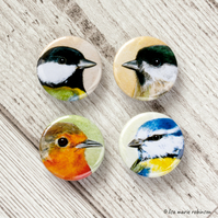British Garden Birds 25mm Badge Pack - 4 Designs