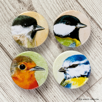 British Garden Birds 38mm Badge Pack - 4 Designs