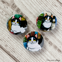Cats and Books - 25mm Badge Set