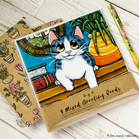 House Cats - Greeting Cards - Pack of 4