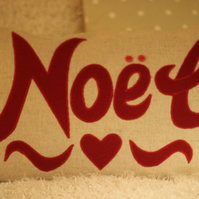 'Noel' Christmas Cushion