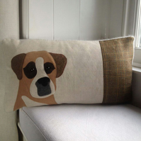 Handmade Boxer Dog cushion