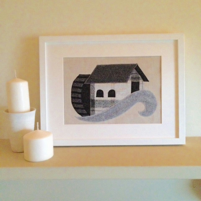 Handmade Watermill Applique Picture