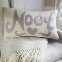 Handmade Noel Cushion