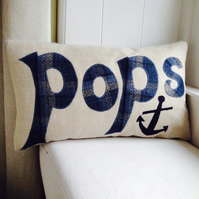 Fathers day 'Pops' cushion