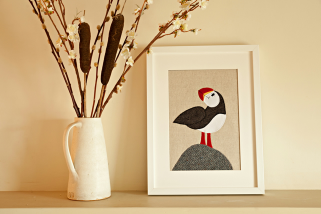 Coastal Puffin applique picture