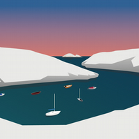 Solva harbour Vector print