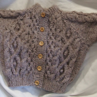 Hand knitted Scottish Aran cardigan