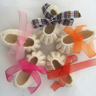 Cashmere baby slippers