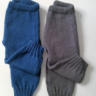 Cashmere blend hand knitted cuff trouser