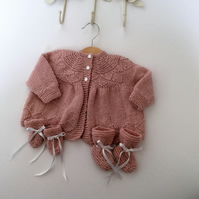 Traditional Cashmere matinee set for baby girl