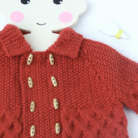Hand knitted vintage style pram coat for babys