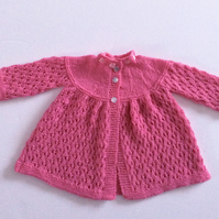 Cashmere hand knitted luxury baby cardigan.
