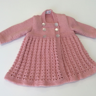 Baby coat in merino wool