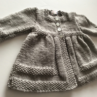 Hand knitted Babies matinee coat