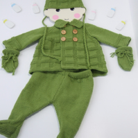 Hand knitted vintage pram suits ( various designs)