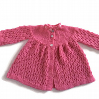 10% off Cashmere hand knitted luxury baby cardigan.