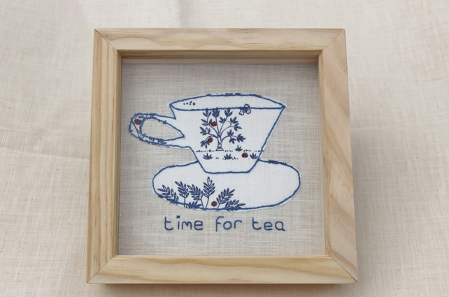 Fabric tea cup picture
