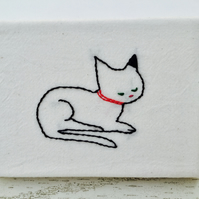 Mini Cat Canvas : Cat with Red Collar