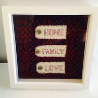 "Welsh Tapestry Picture ""Home, Family, Love"""