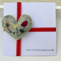 Floral Heart Brooch
