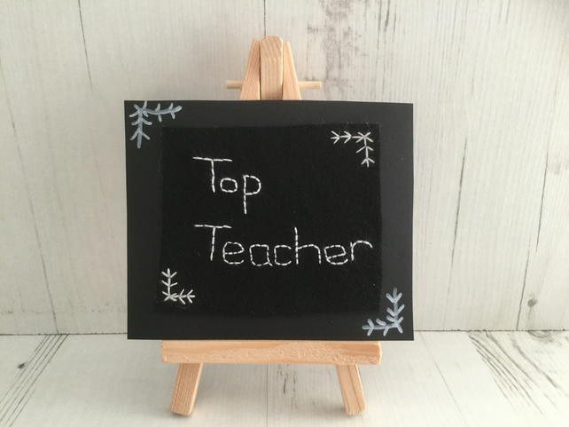 Top Teacher Miniature Blackboard