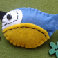 HANDMADE felt brooch BLUE TIT bird HANDSTITCHED craft