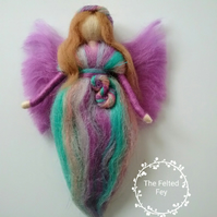 Needle felt fairy,  Rainbow fairy, Wool fairy, Sparkly Fairy, Waldorf Fairy