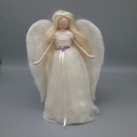 Angel Christmas Tree Topper Needle Felted