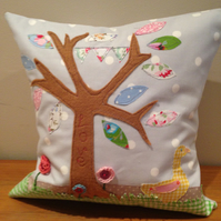"12"" Orchard Goose Handmade Applique Cushion"