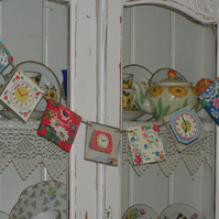 SHABBY CHIC WOODEN BUNTING MADE WITH CATH KIDSTON DESIGNS DRESSER GARLAND PARTY