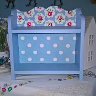 Handcrafted Wooden Storage Shelf Unit made with Cath Kidston Design Shabby Chic