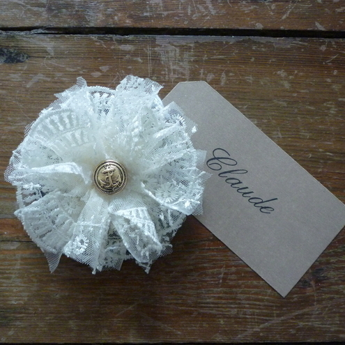 Lace Flora Brooch