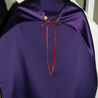 Purple dressing up cape cloak - Nativity King superhero school play costume