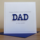 Handmade happy Father's day card, dad