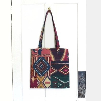 SALE! Aztec or Tribal print lined tote bag