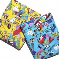 Comic cartoon lined ipad or kindle sleeve - in blue or yellow
