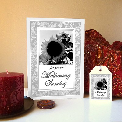 Sunflowers - Mothering Sunday card & free gift tag