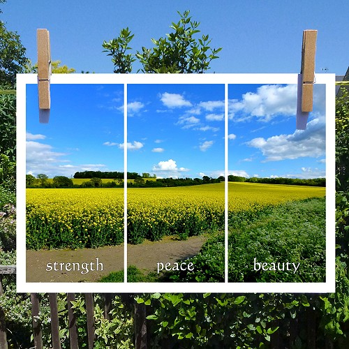 'Inspirational Sky Views'- A4 print: Strength, Peace, Beauty (Sunny Skies)