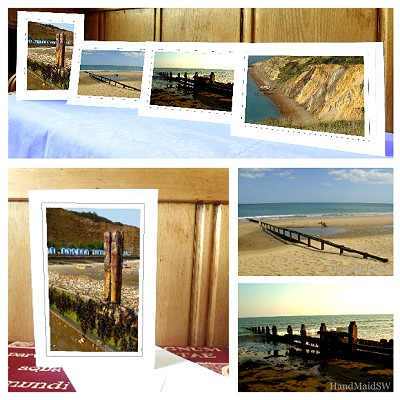 4 greeting cards – 'Gone to the Beach' (beaches of the Isle of Wight)