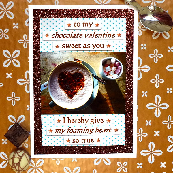 Hot chocolate & marshmallows - Valentine's Day card