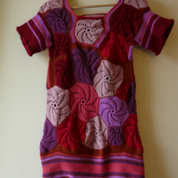 Crocheted dress with high quality yarn