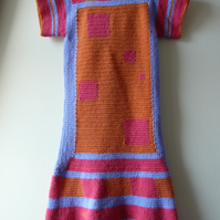 3 coloured crochet dress made with high quality yarn