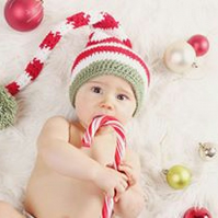 Newborn baby Christmas hat, crochet photography prop, uk seller